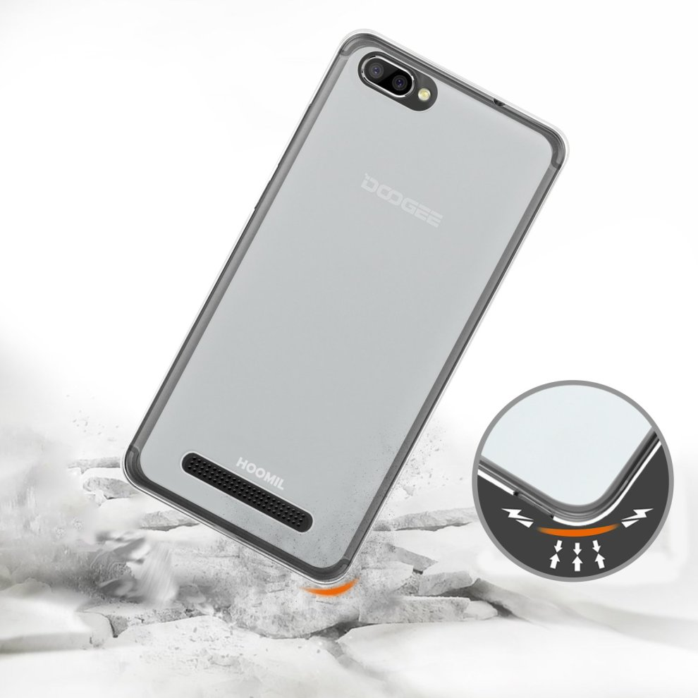 HOOMIL Doogee X20 Case, Soft TPU Slim Protective Clear Case for Doogee X20  / X20L Phone Cover (Crystal) - H3217