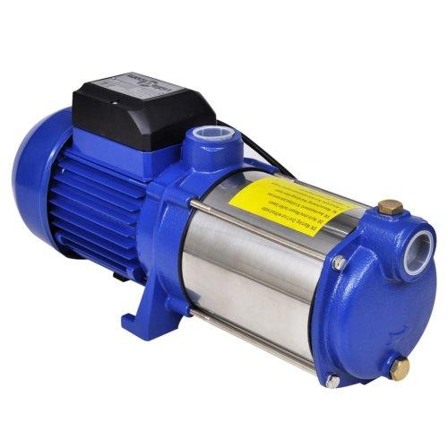 Jet Pump 1300W 5100L/h Blue Reinforced Steel Construction Weather-resistant