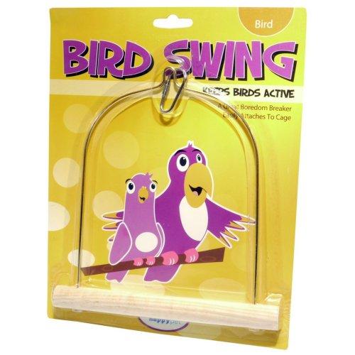 Wooden Bird Swing Med