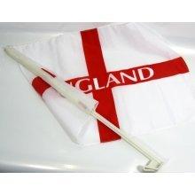England Car Flag 46cm x 30cm - Flags Sticks Polyester Plastic Fits 4s 3 Wide -  car england flags 46cm sticks x polyester plastic fits 4s 3 wide 30cm