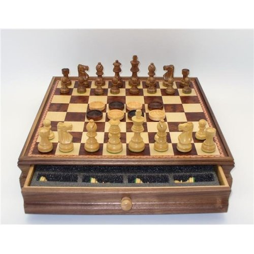 Royal Chess R75639-GY 3.25 in. King Dragons Keep Painted Resin for Men