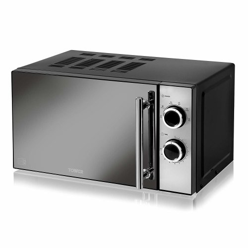 Tower T24015 Black Manual Solo Microwave 800w 20L