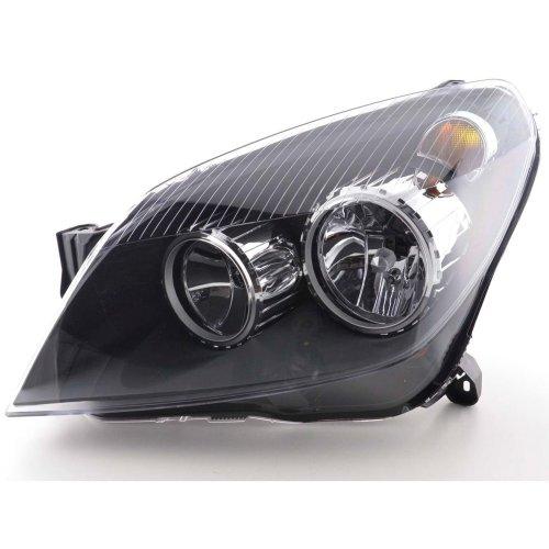 Vauxhall Astra Mk5 2004-2007 Black Headlight Headlamp Passenger Side Left