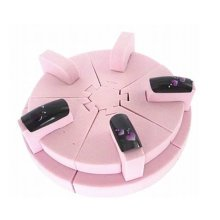 Pink Sponge Seat Nail Diplsy Stand DIY False NailsTip Practice Support Detachable Tools