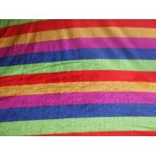 "Carnival Stripe Poly Velour Fabric by the metre 58"" / 147cm Wide"