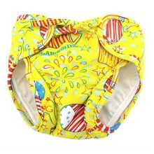 Baby Swim Trunks 0-3 Infants Cute Swimsuit Leakproof Swim Shorts, Yellow Balloon