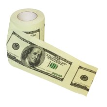 $100 Dollar Bill Toilet Paper - 100 Thumbsup -  100 dollar bill toilet paper thumbsup