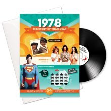 40th Anniversary or Birthday gifts ~ Booklet , Music & Card; 1978 in one present