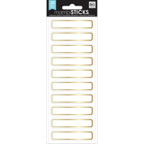 Me & My Big Ideas Label Stickers-Gold Mini Rectangles, 30/Pkg