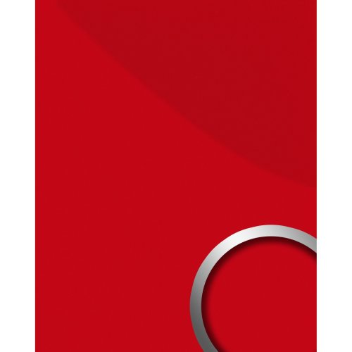 WallFace 16461 DECO MAGIC Wall panel self-adhesive Design glossy red 2.6 sqm