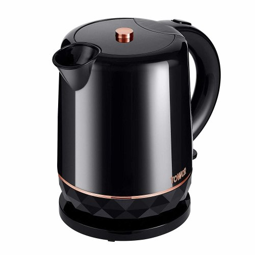 Black and Rose Gold Kettle, 1.5 Litre, 2200 W