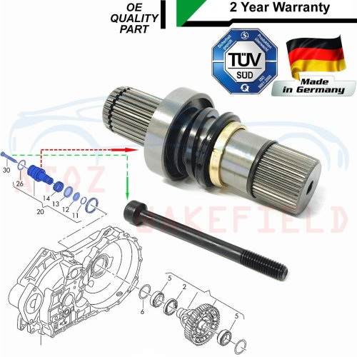 FOR TRANSPORTER T5 2.0 DRIVESHAFT CONNECTING SHAFT ADAPTOR STUB AXLE JOINT RIGHT