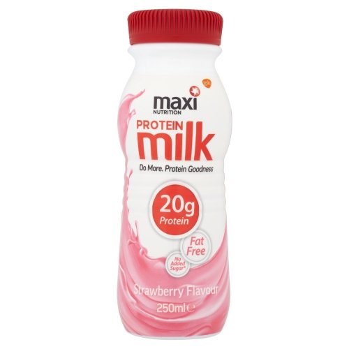 MaxiNutrition Protein Milk, Strawberry, 250 ml, Pack of 8