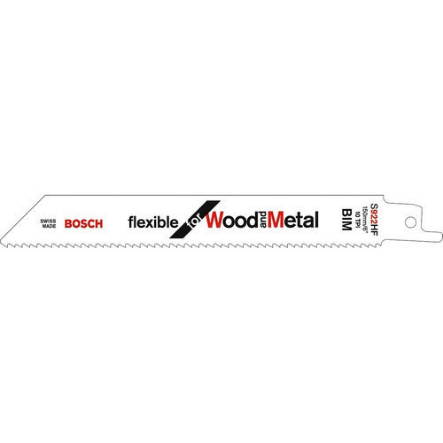 Bosch S922HF Wood and Metal Cutting Sabre Saws Blade Pack of 5