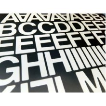 1 inch Sticky Self Adhesive vinyl letters & Numbers (White)