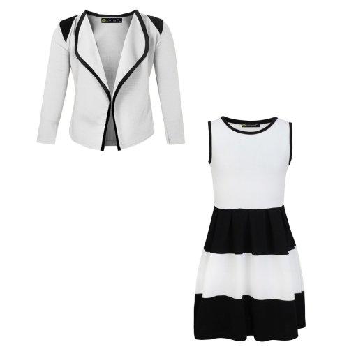 Girls Skater Dress Bundle with Blazer Jacket