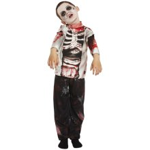 Kids Zombie Skeleton Boy Costume | Halloween