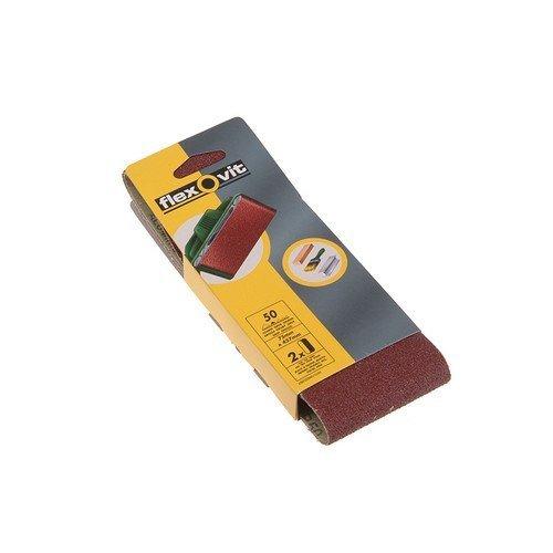Flexovit 63642526784 Cloth Sanding Belts 75mm x 457mm Assorted Pack of 6