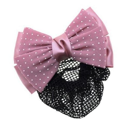 Womens Elegant Hairnet Hair Clip Snood Net Bow Barrette Hairdressing, P