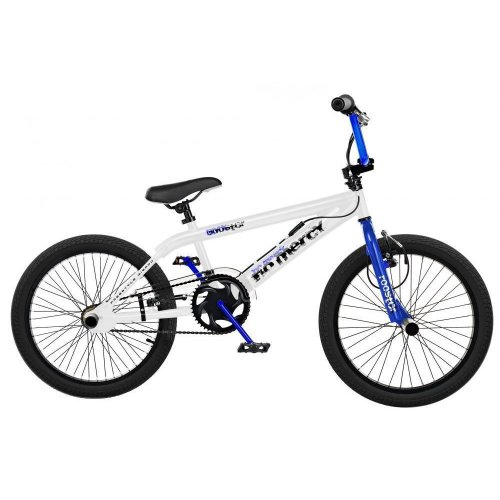 "Rooster No Mercy Kids 20"" Wheel 11"" Freestyle BMX Bike Gyro White Blue RS83"