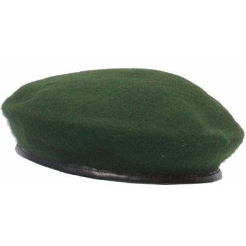 350d1b3f7a7fc Large Green Soldier s Beret Cap - 100 wool military beret cap hat army 5  colours mens ladies sxl genuine leather trim maroon black highlander cadet  on OnBuy