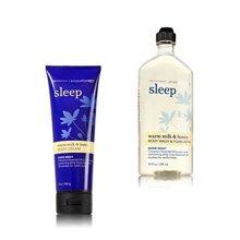 Bath and Body Works - Aromatherapy - Enhances Sleep - Warm Milk & Honey - Body W