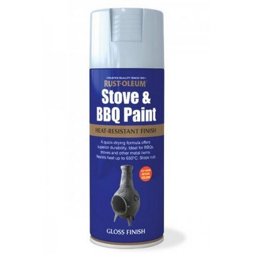 Rust-Oleum AE0020002E8 Stove and BBQ Silver Matt Heat Resistant Spray Paint 400ml