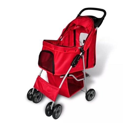 New red folding pet stroller dog/cat Travel Carrier