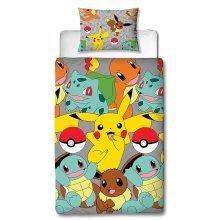 Pokemon Catch Single Duvet Cover Set Polyester
