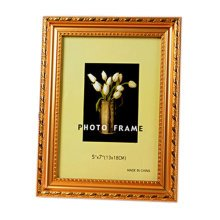Set Of 2 Decorative Polyresin 4-by-6-Inch Picture Photo Frame, Gold