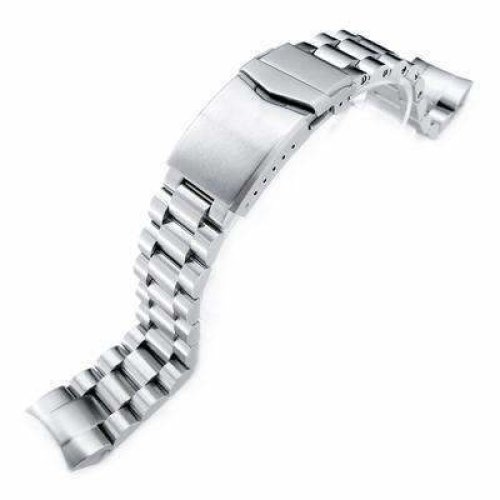 Strapcode Watch Bracelet 22mm Endmill 316L Stainless Steel Watch Bracelet for Orient Mako II & Ray II, V-Clasp Brushed