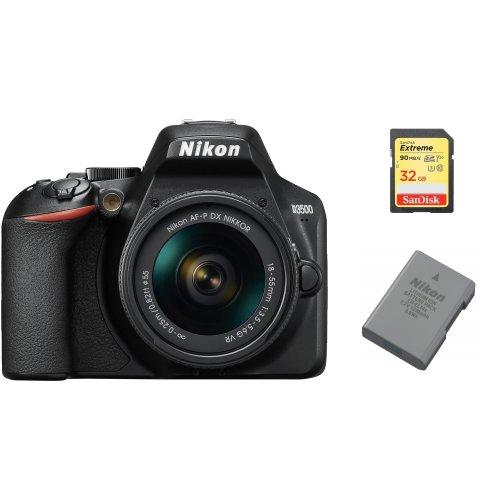 NIKON D3500+AF-P 18-55mm F3.5-5.6 + SanDisk Extreme 32G SD + EN-EL14A