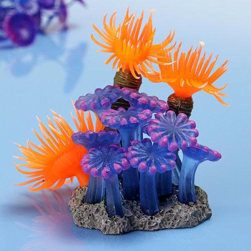 Soft Artificial Vivid Resin Coral Aquatic Fish Tank Ornament Aquarium Decoration