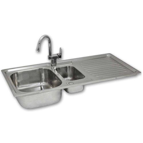 Premium Stainless Steel Kitchen Sink & Confetti Tap