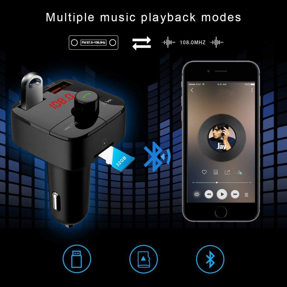 Car FM Transmitter Wireless Bluetooth Car Kit In-Car FM