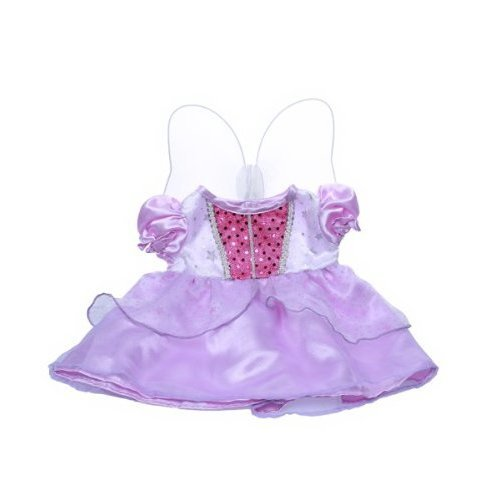 """Purple """"Cinderella"""" Dress w/ Wings Outfit Fits Most 8""""-10"""" Webkinz, Shining Star and 8""""-10"""" Make Your Own Stuffed Animals and Build-A-Bear"""