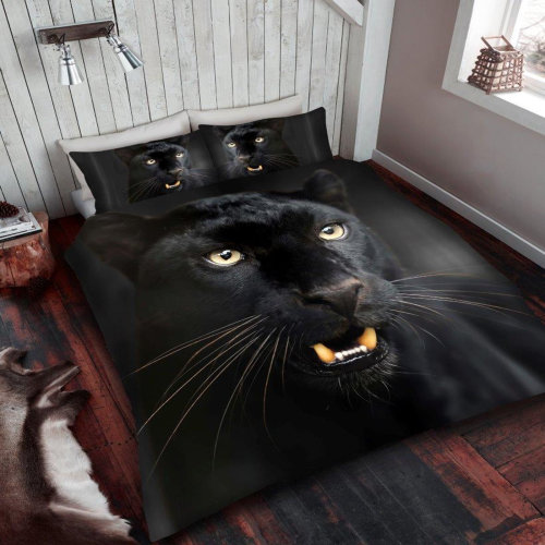 Black Panther Double Duvet Cover Bedding Set