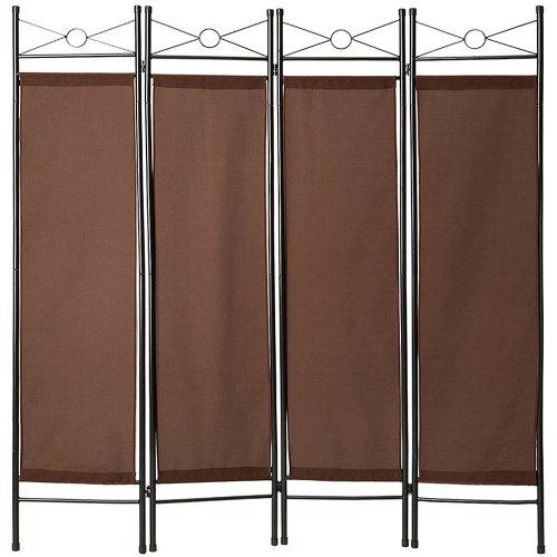 Room divider paravent brown