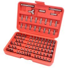 100 PC Chrome Vanadium Security Screwdriver Tamperproof Torx Hex Bit Set + Case [RED]