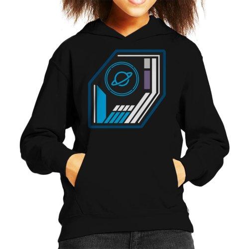 The Crystal Maze Basic Planet Badge Kid's Hooded Sweatshirt