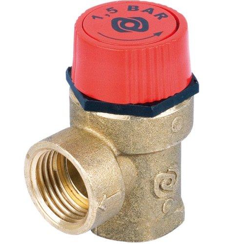 "1/2"" Safety Pressure Relief Valve - Boiler Heating 1,5 Bar, 2,5 Bar, 3 Bar"