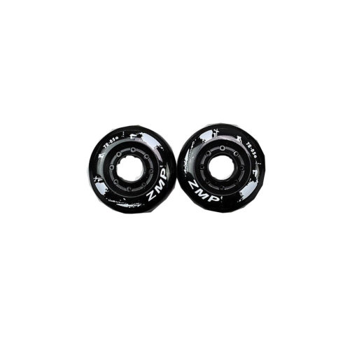 Set of 2 Roller Skate Wheels Inline Skate Wheels 72MM Black