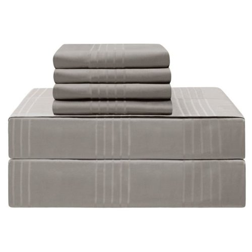 Jean Pierre YMS008226 Premium 420 Thread Count 100 Percent Cotton Sheet Set, Charcoal - King - 6 Piece