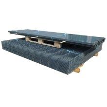 vidaXL 2D Garden Fence Panels & Posts 2008x1630 mm 14 m Grey