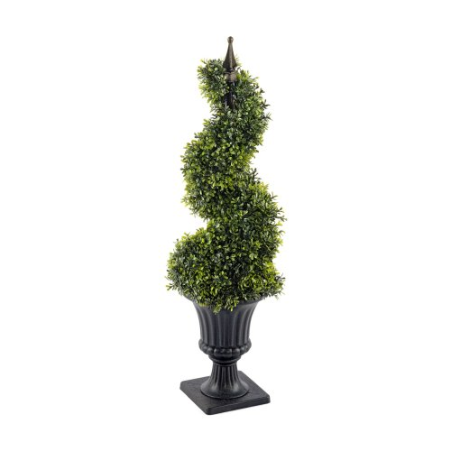 Boxwood Spiral Topiary Plant Tree with Pot 90cm