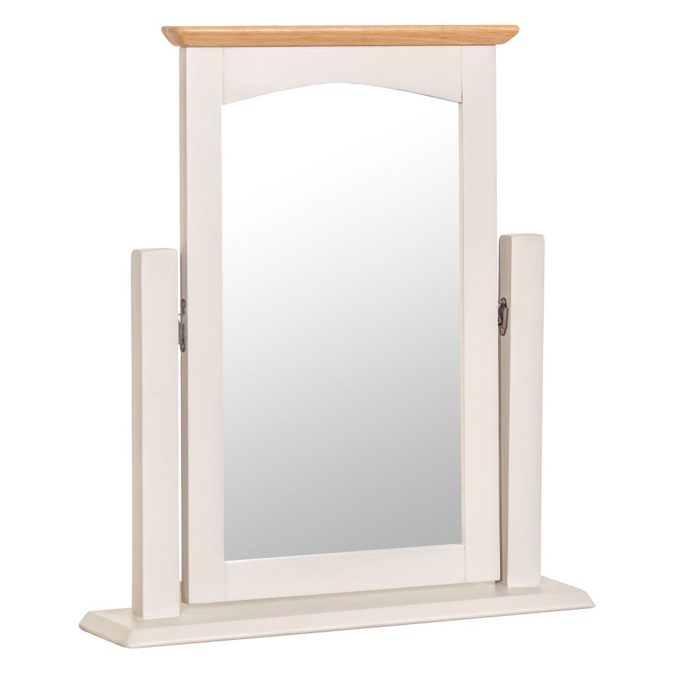 a3f7b2d867f8 Malvern Shaker Ivory Painted Oak Dressing Table Mirror on OnBuy