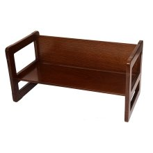 Obique Multifunctional Furniture 1 Bench Beech Wood, Dark