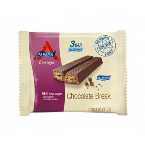 Atkins Endulge Chocolate Break 3x 21.5g Twin Finger Bars