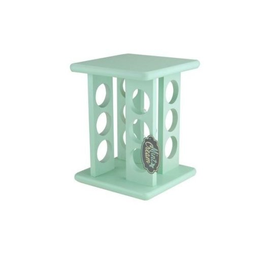 Kitchen 12 Spices Herb Carousel Wooden Minted Rack Holder Rotating