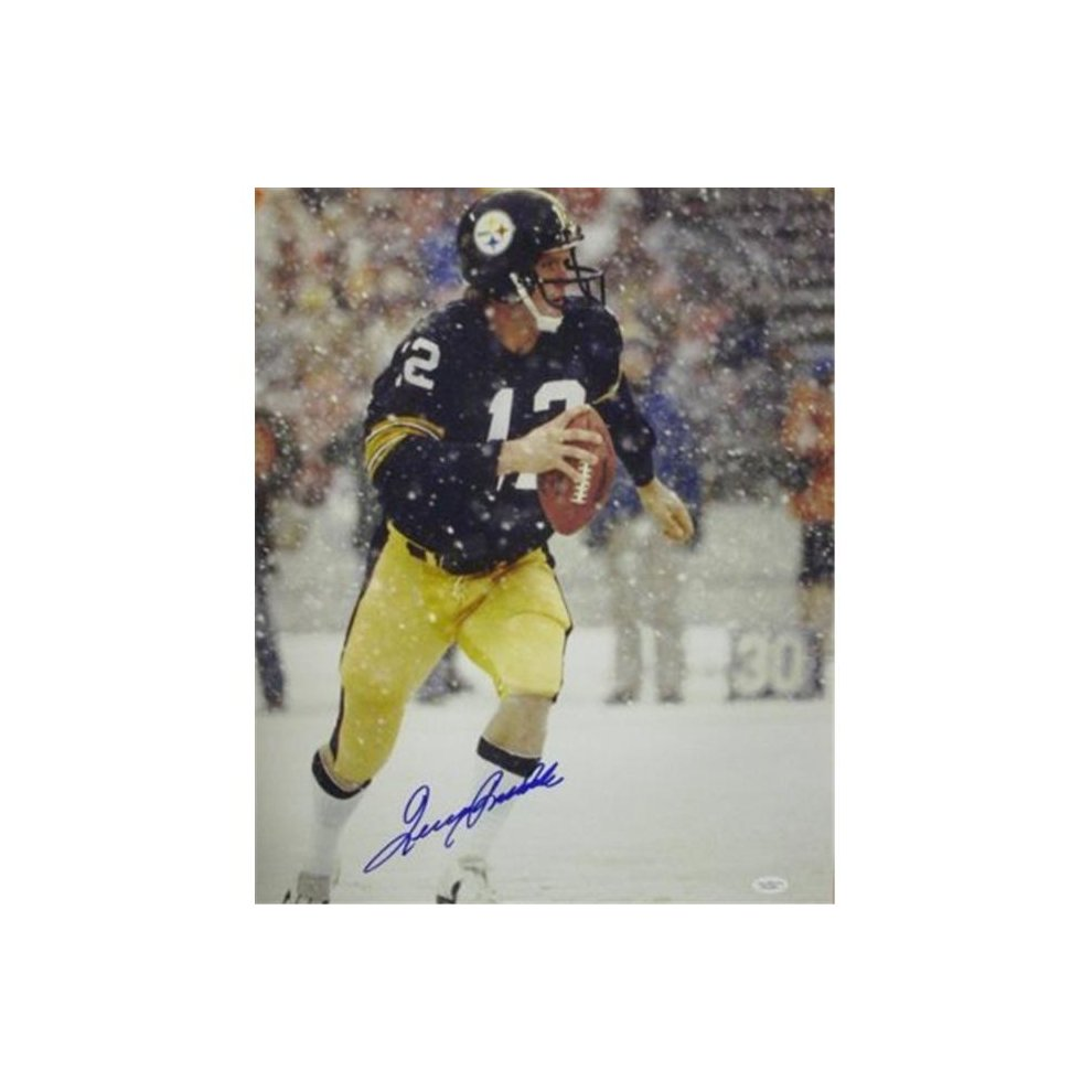 80c33971cab RDB Holdings   Consulting CTBL-015138 16 x 20 in. Terry Bradshaw Signed  Pittsburgh Steelers Photo in the Snow - JSA Hologram on OnBuy